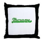 Softball Therapy G Throw Pillow