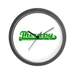 Softball Therapy G Wall Clock