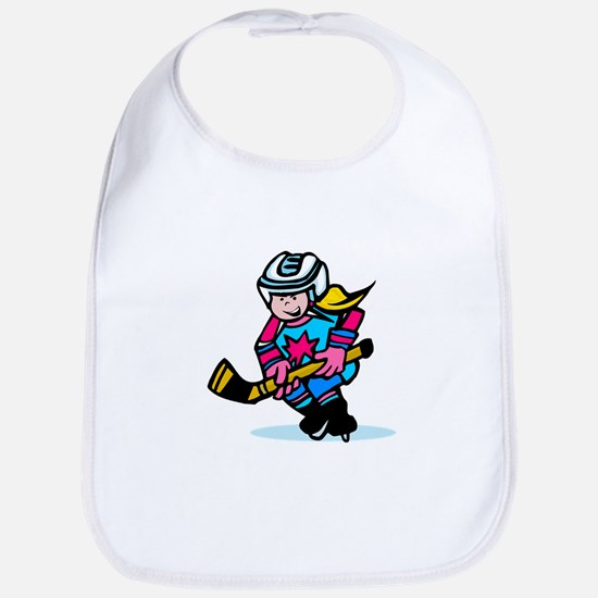 Blonde Hockey Girl Bib