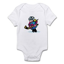 Blonde Hockey Girl Infant Bodysuit