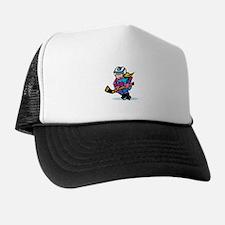 Blonde Hockey Girl Trucker Hat