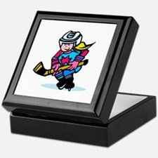 Blonde Hockey Girl Keepsake Box