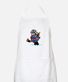 Blonde Hockey Girl BBQ Apron
