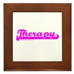 Softball Therapy P Framed Tile