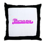 Softball Therapy P Throw Pillow