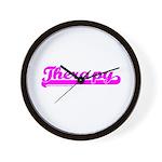 Softball Therapy P Wall Clock