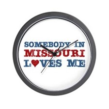 Somebody in Missouri Loves Me Wall Clock