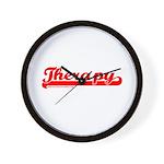 Softball Therapy R Wall Clock