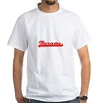 Softball Therapy R White T-Shirt