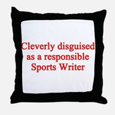 Sports Writer Throw Pillow