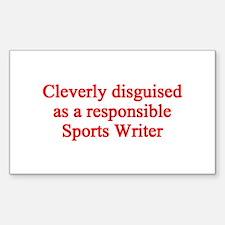 Sports Writer Rectangle Sticker 10 pk)