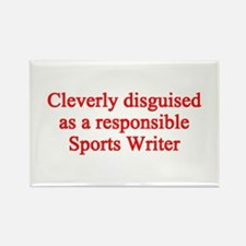Sports Writer Rectangle Magnet (10 pack)