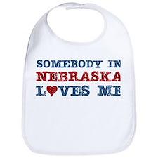 Somebody in Nebraska Loves Me Bib