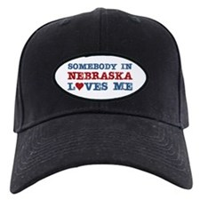 Somebody in Nebraska Loves Me Baseball Hat