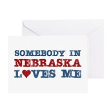 Somebody in Nebraska Loves Me Greeting Card