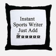 Sports Writer Throw Pillow