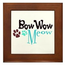 Bow Wow Meow Framed Tile