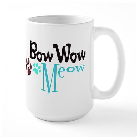 Bow Wow Meow Large Mug