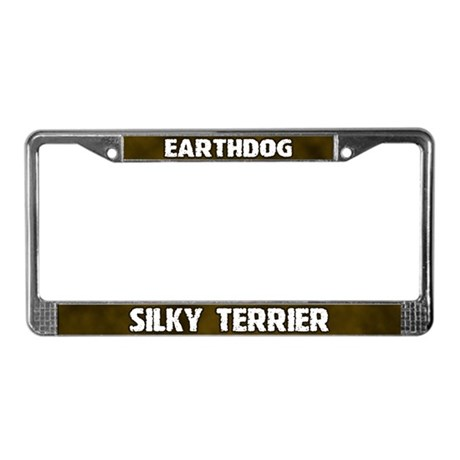 Earthdog Silky Terrier License Plate Frame