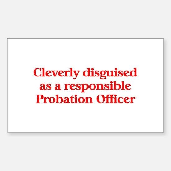 Probation Officer Rectangle Sticker 10 pk)