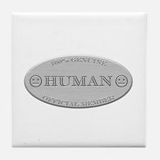 Brushed Steel - Human Pride Tile Coaster