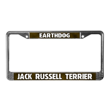 Earthdog Jack Russell License Plate Frame