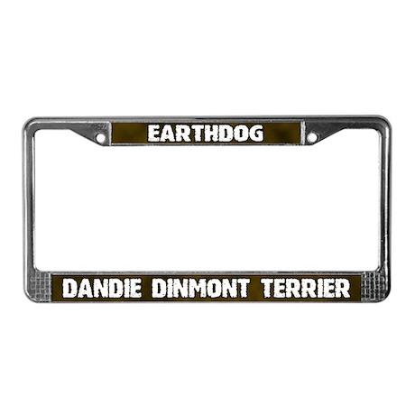 Earthdog Dandie Dinmont License Plate Frame