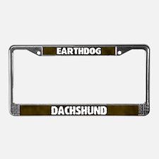 Earthdog Dachshund License Plate Frame