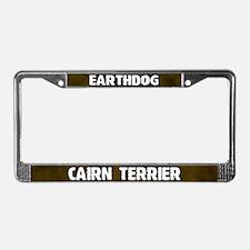 Earthdog Cairn Terrier License Plate Frame