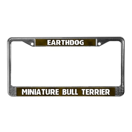 Earthdog Mini Bull Terrier License Plate Frame