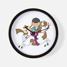 Horsey Holly Wall Clock