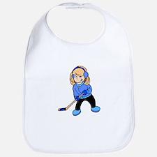 Blonde Hockey Girl Bib