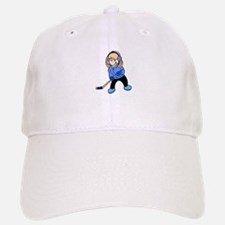 Blonde Hockey Girl Baseball Baseball Cap
