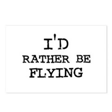 I'd rather be Flying Postcards (Package of 8)