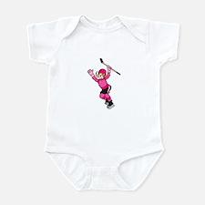 Pink Hockey Winner Infant Bodysuit