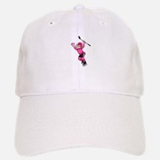 Pink Hockey Winner Baseball Baseball Cap