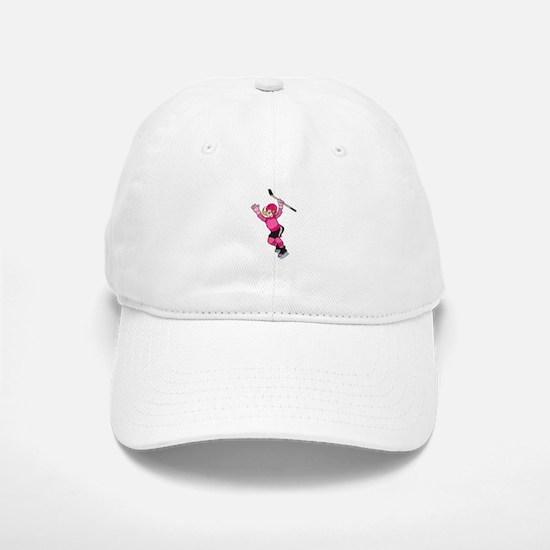 Pink Hockey Winner Baseball Baseball Cap