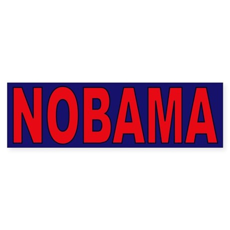Red/Navy Blue Bumper Sticker