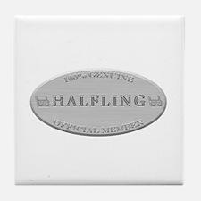 Brushed Steel - Halfling Pride Tile Coaster