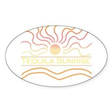 Tequila Sunrise Oval Decal