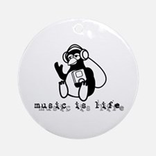 Music Is Life Ornament (Round)