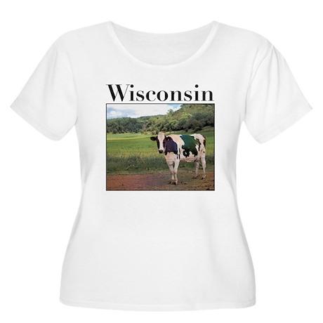 Wisconsin Cow Women's Plus Size Scoop Neck T-Shirt