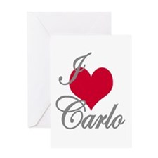 I love (heart) Carlo Greeting Card