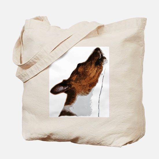 Basenji Yodels Tote Bag
