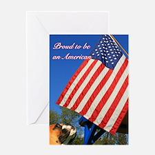 Patriotic Boxer Greeting Card