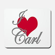 I love (heart) Carl Mousepad