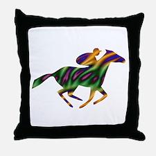 Horseback Ride Throw Pillow