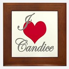 I love (heart) Candice Framed Tile