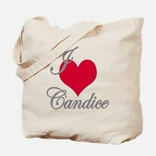 I love (heart) Candice Tote Bag