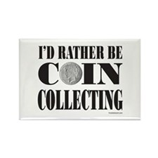 COIN COLLECTING Rectangle Magnet